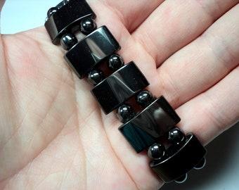 Men's Bracelet, women's Bracelet, Natural hematite Bracelet 85х17 mm, black hematite Bracelet, men's Boho, gift for her, Gifts for him, 17mm