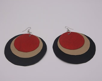 Tiered Circle Paper Earrings
