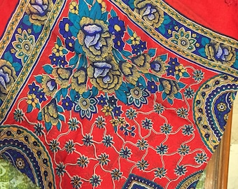 Natural silk scarf, Indian style. Exclusive design.