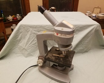 AO american optical spencer model 60 microscope vintage