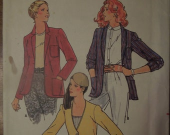 Butterick 6547, Misses, womens, teens, jacket, unline, UNCUT sewing pattern, craft supplies, size 12