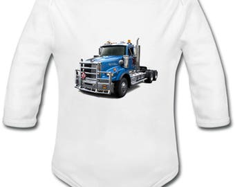 Truck Truck - possibility of custom name onesie