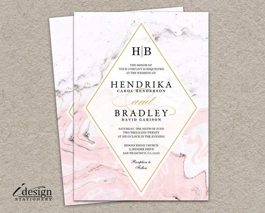 Marble wedding invitation modern printable watercolor marble request a custom order and have something made just for you filmwisefo Choice Image
