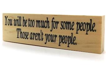 Rustic Motivational Quote Magnet On Wood, Shelf Or Fridge Decoration For Inspiration