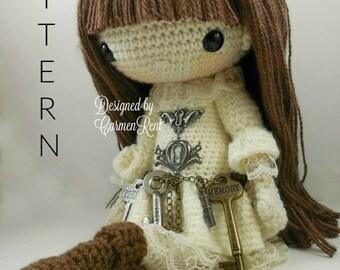 Antonia-Steampunk-Amigurumi Doll Crochet Pattern PDF
