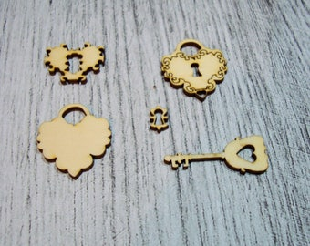 set of little keys 1050 embellishment that goes everywhere
