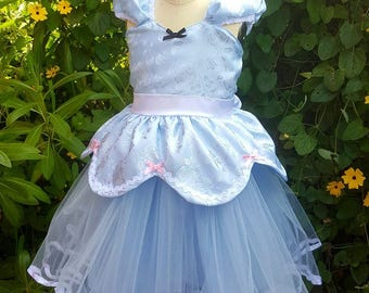Robe de robe de Cendrillon, princesse, costume de Cendrillon, robe TUTU de Cendrillon, costume de fille Cendrillon partie robe enfant en bas âge anniversaire Cendrillon