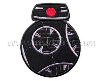 Black Droid Applique Design