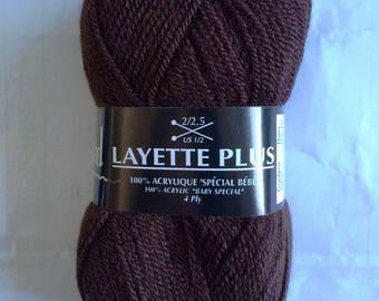 Baby chocolate more 465-Plassard - ball of yarn