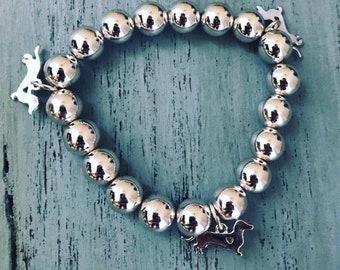 SALE!!!! Dachshund stretchy bracelet