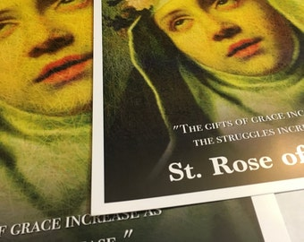 Saint Rose of Lima Beautiful and Unique Inspirational Poster (Version 2)
