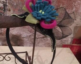 Winter flower headband