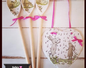 Easter gift ideas etsy sweet bunnies slate heart rabbit hanging mothers day easter gift idea hearts bunnies negle Images