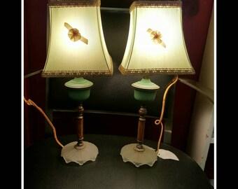 Pair of Vintage Bakelite Boudoir Lamps