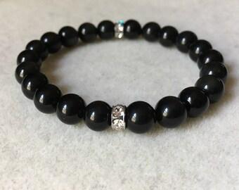 Black Obsidian Gemstone Bracelet