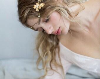 Bridal headband - Flower wave headband - Style 752 - Made to Order
