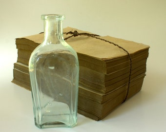 Small Glass Bottle, Vintage Glass Bottle, Vintage  Medicine Bottle,  Small Bottles, Decorative Glass,Collectible Glass