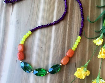Emerald Color Block Necklace