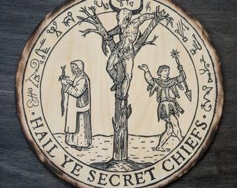 The Oracle Tree - Illuminati Witchcraft Ritual Pressed to Wood