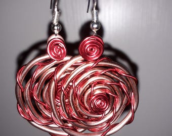 Earrings - aluminum wire