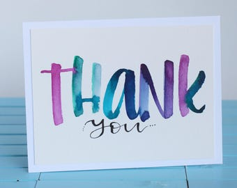 HAND LETTERED | Thank You Card