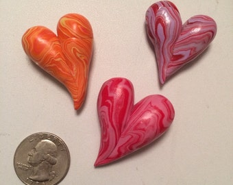 Love Heart pins/brooches