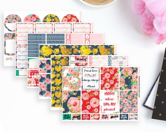 Hurry Up Spring Weekly Planner Sticker Kit |  Ideal for the Vertical Erin Condren | 115 Stickers