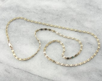 Simple Yellow Gold Snail Chain With Spiral Links YUMU3K-R