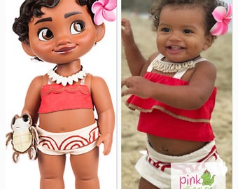 May delivery  - The Cutest Baby Toddler Moana Costume Outfit Dress Up  6m to 5T for Birthday & Parks