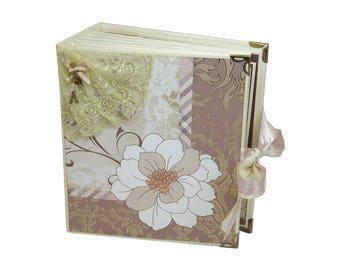 Vintage Album, Family Photo Book, Handmade Book, Memory Album, Photo Journal, Scrapbook Album, Photo Book, Keepsake Album, Wedding Album