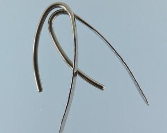 12 gauge niobium earrings: Marquise shape