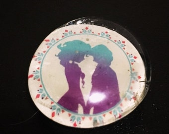 Couples Love Glass Magnet