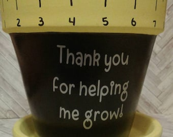 End of year teacher gifts- Thank you for helping me grow flowerpot- Thank you teacher gift- Teacher appreciation- Prek- Kindergarten teacher