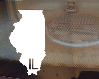 Illinois Car Decal, State Decal, Illinois Decal, Laptop Decal, Laptop Sticker, Car Sticker, Car Decal, Vinyl Decal, IL, Window Sticker