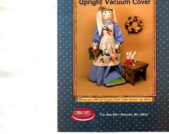 Rebecca and Her Bunnies Upright Vacuum Cover 48 Inch Tall Soft Sculpture Sewing Craft Pattern Sheets