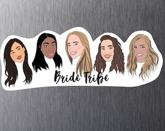 Custom Face Magnets, Custom Illustration, Funny bridesmaid, Fridge magnets, Personalized Magnets, Bridesmaid Gift, Custom Bridesmaid Magnet
