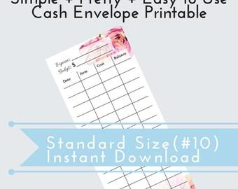 DIY Cash Envelope, Printable Cash Budgeting Template, Dave Ramsey, Printable Envelope, Cash Envelope Categories, Spending Log, Tracker