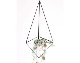 Indoor Pflanzer - geometrische Glas Terrarium - Terrarium Container - handgemachte Glasmalerei Terrarium - Luft-Anlage Halter - moderne Übertopf
