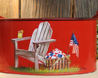 Picnic Caddy (Various Colors and Designs)