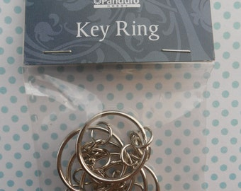 Key Rings with Chain Set of 5