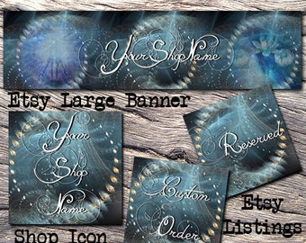 ETSY LARGE COVER Complete Set-Mystical Fantasy Cover Photo-Premade Fantasy Etsy Set-New Age Etsy- Large Cover,Balance Etsy, Yoga  #111