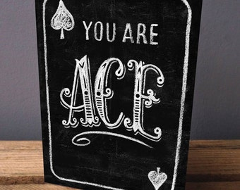 Greetings card - Valentines Card - Birthday card - Mother's day Card - Father's Day Card - Card for Teacher - Card for Dad - Ace card