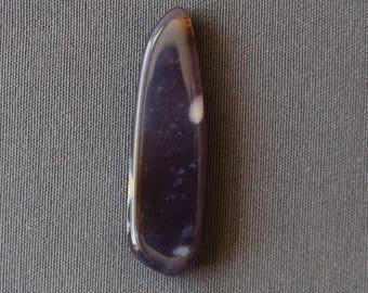 Amethyst Sage Agate Cabochon - Organic Shape Purple Stone