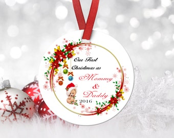 Merry Christmas Ornament,Housewarming Gift,Ornament,Christmas,Custom Ornament,Personalized Ornament,Gifts for her,Porcelain Ornament,Holiday