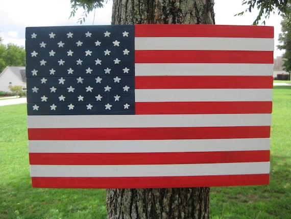 Wood American Flag Patriotic Wall Decor American Flag Wall