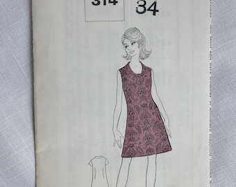 Vintage dressmaking pattern, The People 314, size 34 inch bust, 1960s