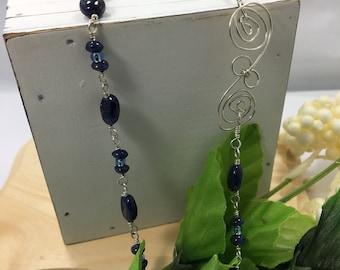 Blue Aventurine & Crystal