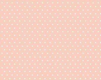 "Knit - Polka Dots (pink) - Tout Petit Collection from Cloud9 Fabrics - Organic Knit - Organic Knit Fabric - Knit Fabric - Knit Pink - 54/55"""