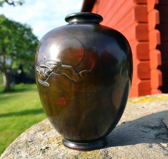 Yoshimasa Bronze Vasemeiji Metalwork Japanese Antique19th To