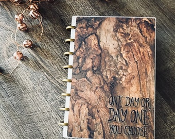 Planner COVER, Wood Texture Cover, Rustic Planner Cover, Barnwood Planner Cover, Discbound Cover, Happy Planner Cover, Mambi Planner Cover